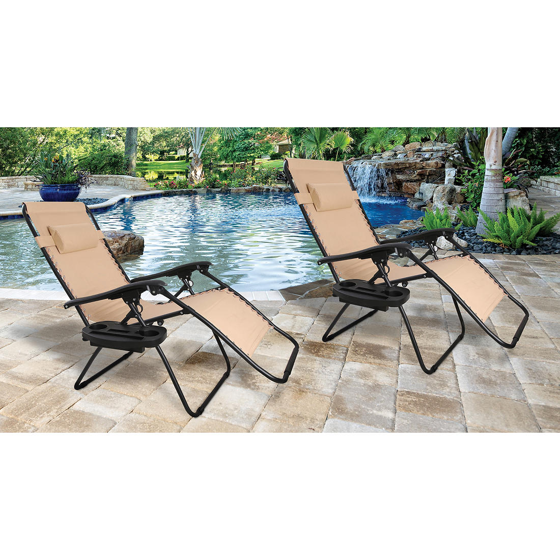 Peachy Berkley Jensen Zero Gravity Chair 2 Pk Tan Ibusinesslaw Wood Chair Design Ideas Ibusinesslaworg