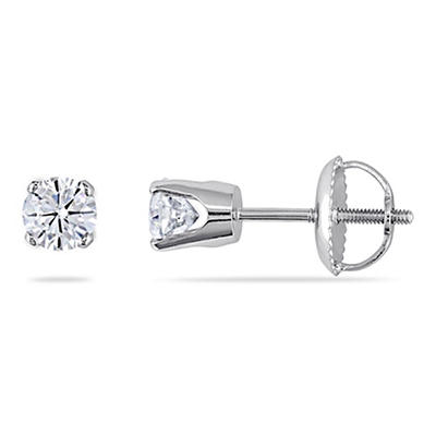 .50 ct. t.w. Diamond Stud Earrings in 14k White Gold