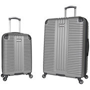 "Kenneth Cole Reaction 2-Pc. 20"" and 28"" Hardside Luggage Set - Silver"