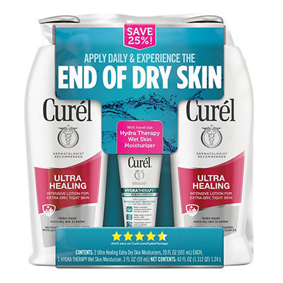 Curel Ultra Healing Lotion, 2 pk./20 fl. oz. with Bonus Hydra Therapy