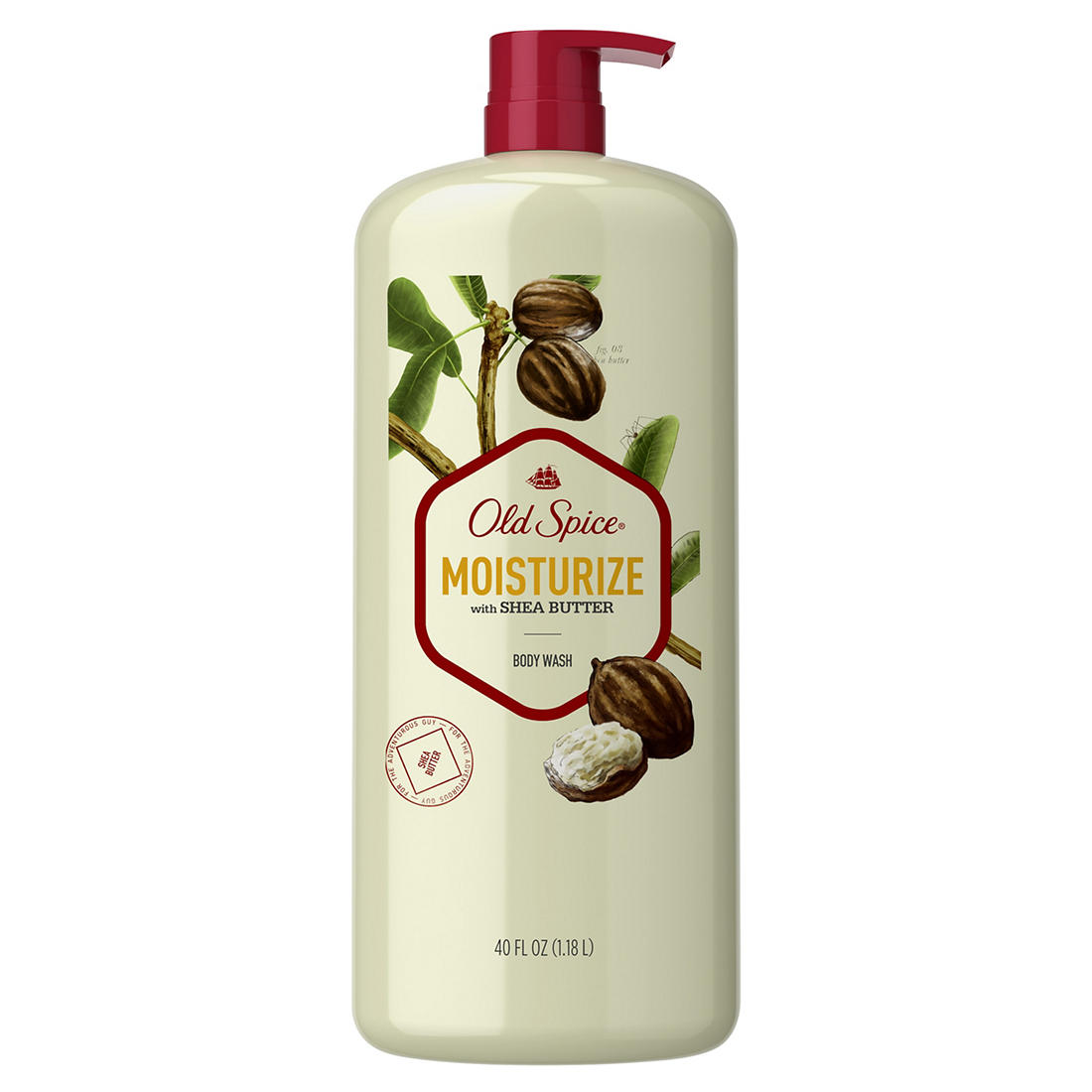 Old Spice Body Wash for Men Moisturize With Shea Butter, 40 fl  oz