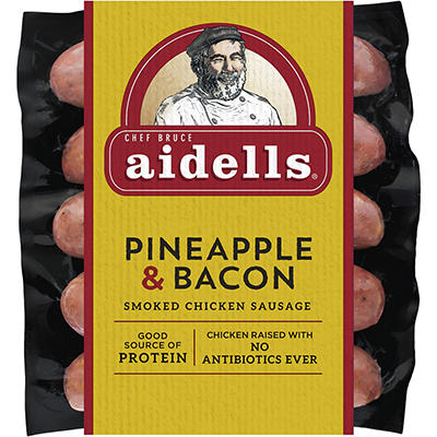 Aidells Pineapple & Bacon Smoked Chicken Sausage, 32 oz.