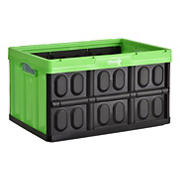 Muscle Rack Folding Plastic Storage Crate - Green