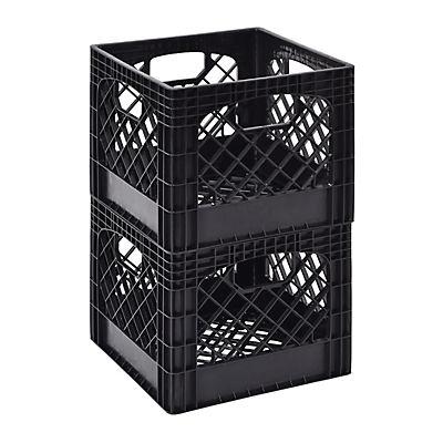 Muscle Rack Milk Crate, 2 pk. - Black