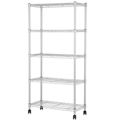 Muscle Rack 5-Tier Mobile Wire Shelving Unit