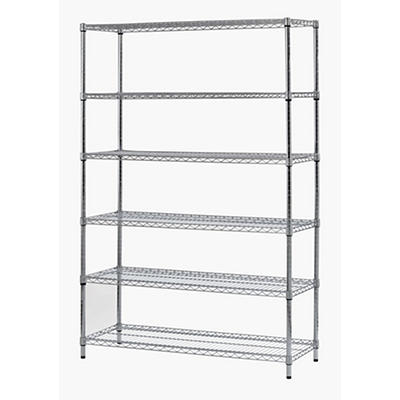 Muscle Rack 6-Tier Shelving Unit - Zinc Plated Finish