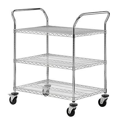 Sandusky 3-Tier Wire Cart - Chrome