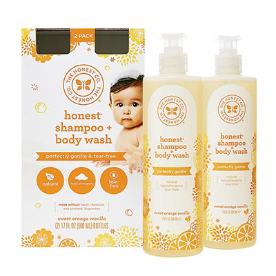 Honest Orange Vanilla Shampoo and Body Wash, 17 fl. oz.