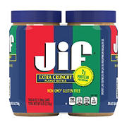 Jif Extra Crunchy Peanut Butter, 2 ct.