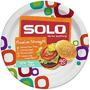 """Solo 10"""" Printed Paper Plates, 90 ct."""