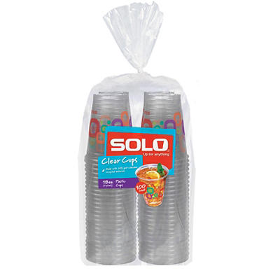 Solo Printed Color Cups, 18 oz./100 ct.