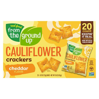 From The Ground Up Cheddar Cauliflower Crackers, 20 ct.