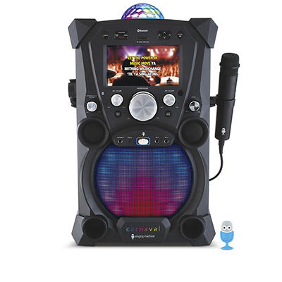 Singing Machine Carnaval Portable Hi-Def Karaoke System with Built-in
