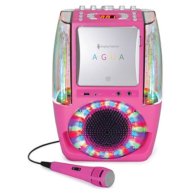 Singing Machine AGUA Karaoke System - Pink