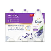 Dove Relaxing Lavender Oil Body Wash, 3 pk.