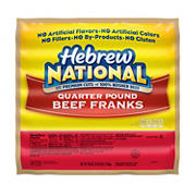 Hebrew National Quarter-Pound Beef Franks, 56 oz.