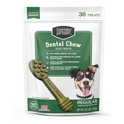 Berkley Jensen Grain-Free Dental Chews for Regular Size Dogs, 36 ct./2.25 lbs.