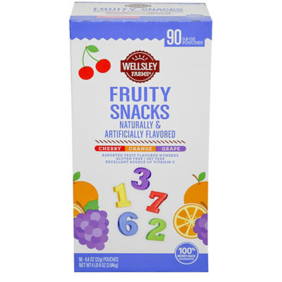 Wellsley Farms Fruity Snacks, 90 ct.
