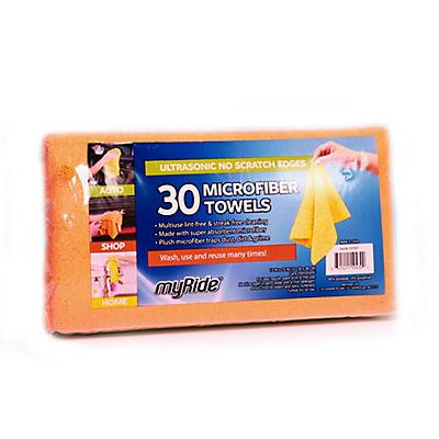 MyRide Grab-A-Rag Microfiber Towels, 30 ct.