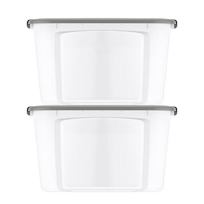 Bella 20-Gal. Tote with Locking Lid, 2 pk. - Clear