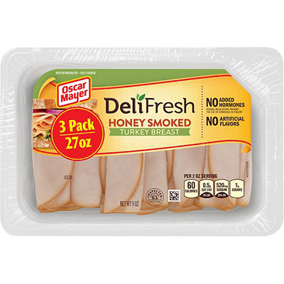 Oscar Mayer Deli Fresh Honey Smoked Turkey, 27 oz.