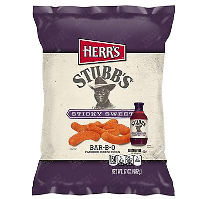 Herr's Stubb's Sticky Sweet Bar-B-Q Cheese Curls, 16 oz.