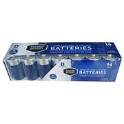 Berkley Jensen D Alkaline Battery, 14 pk.