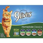 9Lives Homestyle Classics Wet Cat Food Variety Pack, 48 pk./5.5 oz.