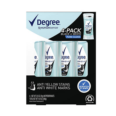 Degree for Women Pure Clean, 4 pk./2.6 oz.