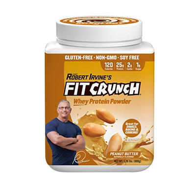 Fit Crunch Peanut Butter Whey Protein Powder, 1.76 lbs.