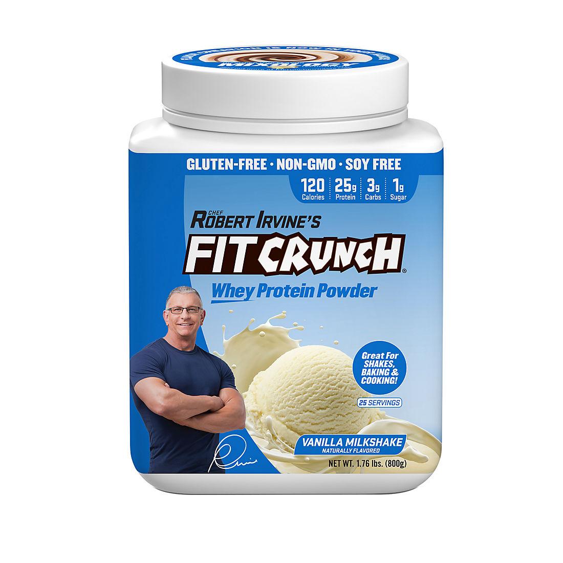 Fit Crunch Vanilla Milkshake Whey Protein Powder, 1 76 lbs
