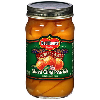 Del Monte Jar Peaches in Extra Light Syrup, 3 pk./20 oz.