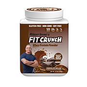 Fit Crunch Chocolate Deluxe Whey Protein Powder, 1.81 lbs.