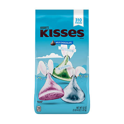 Hershey's Kisses Milk Chocolates Easter Candy, 310 ct./52 oz.