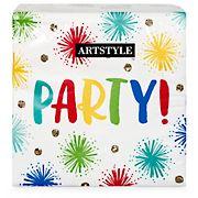 "Artstyle Sparkle Party 13"" Three-Ply Napkins, 120 ct."