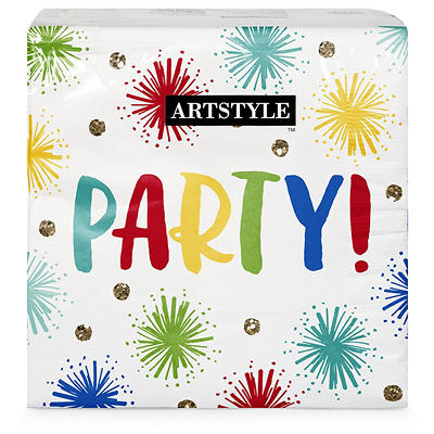 "Artstyle Sparkle Party 13"" Three-Ply Napkins, 120 ct."