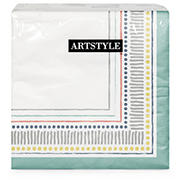 "Artstyle All Lined Up 13"" Three-Ply Napkins, 120 ct."