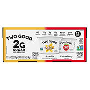 Light N' Fit Two Good Low Fat Yogurt, 12 ct./5.3 oz.