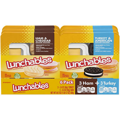 Oscar Mayer Turkey and Ham Lunchables Variety Pack, 6 pk.