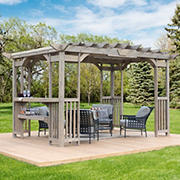 Yardistry Madison 14' x 10' Pergola with Bar and Sunshade