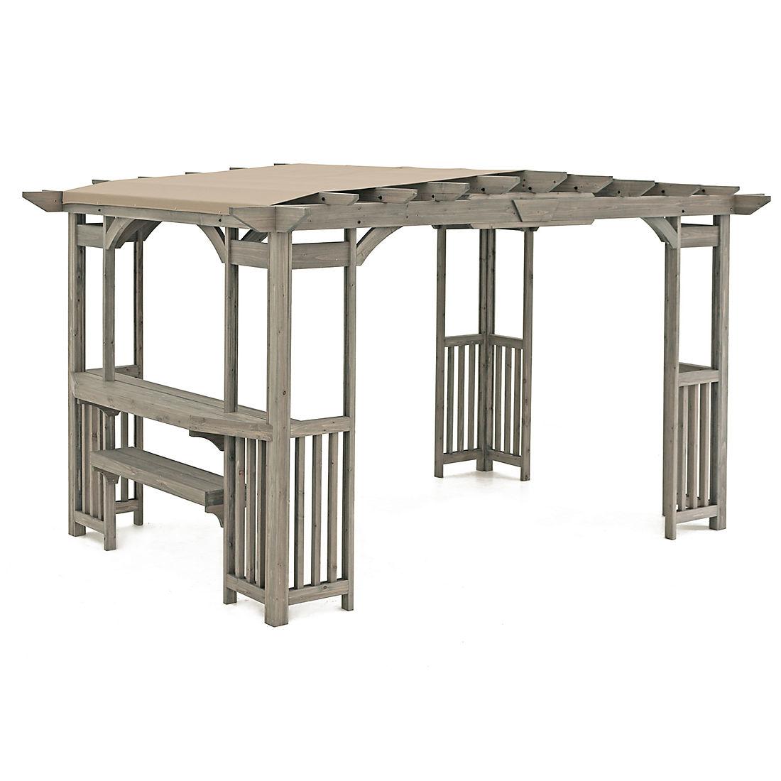 Swell Yardistry Madison 14 X 10 Pergola With Bar And Sunshade Machost Co Dining Chair Design Ideas Machostcouk