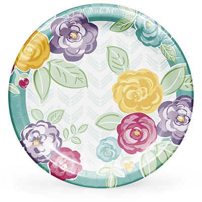 "Artstyle Spring Bold and Beautiful 10.25"" Plates, 40 ct."