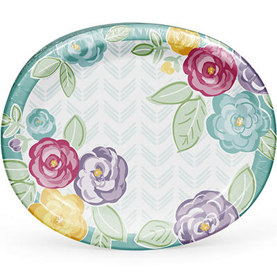 Artstyle Spring Bold and Beautiful Oval Plates, 35 ct.