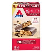 Atkins Chocolate Peanut Butter Bars, 16 ct./2.12 oz.