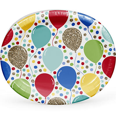 "Artstyle Sparkle Party 12"" Oval Platter, 35 ct."