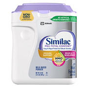 Similac Pro-Total Comfort Non-GMO with 2'-FL HMO Infant Formula with Iron Powder, 34 oz.