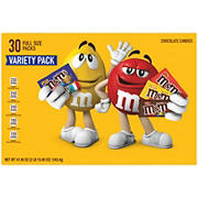 M&M's Milk Chocolate Candy Bars with Minis Variety Box, 8 ct.