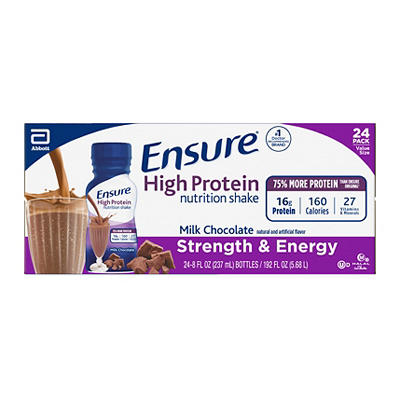 Ensure High Protein Milk Chocolate Nutrition Shake, 24 pk./8 fl. oz.