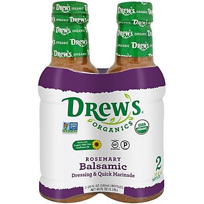 Drew's Organics Rosemary Balsamic Dressing & Quick Marinade, 2 pk./20 fl. oz.