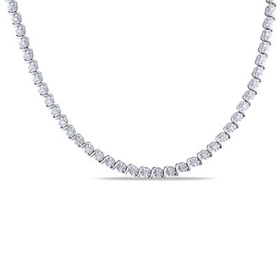 .50 ct. t.w. Diamond Tennis Necklace in Sterling Silver